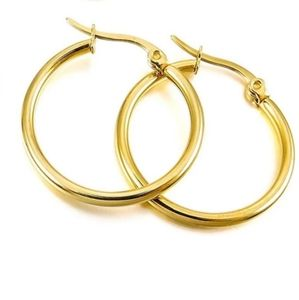 NEW Stainless Steel Gold Small Hoop Earrings